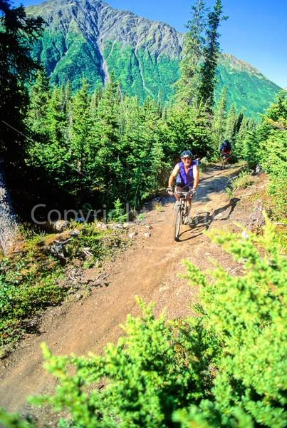 Mountain biker(s) in Chugach Mountains on Alaska's Kenai peninsula  - B ak chugach 67 - 72 dpi 2