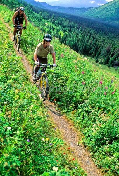 Mountain biker(s) in Chugach Mountains on Alaska's Kenai peninsula  - B ak chugach 32 - 72 dpi 2