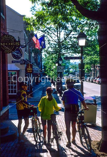 Cyclists on King Street in downtown Alexandria, VA - 72 dpi -1