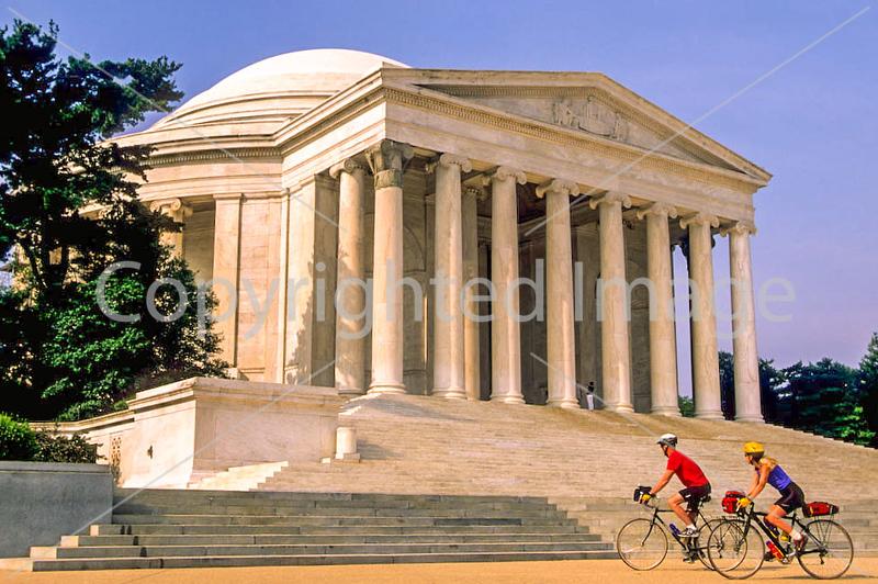 Bikers at Jefferson Memorial on Tidal Basin - 72 dpi-34