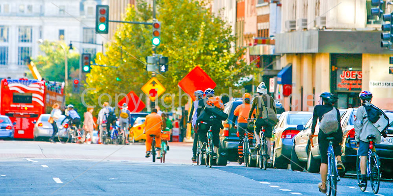 Cyclists near Ford's Theatre in Washington, DC - 72 dpi -1420