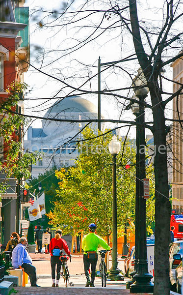 Cyclists near Ford's Theatre in Washington, DC - 72 dpi -1425