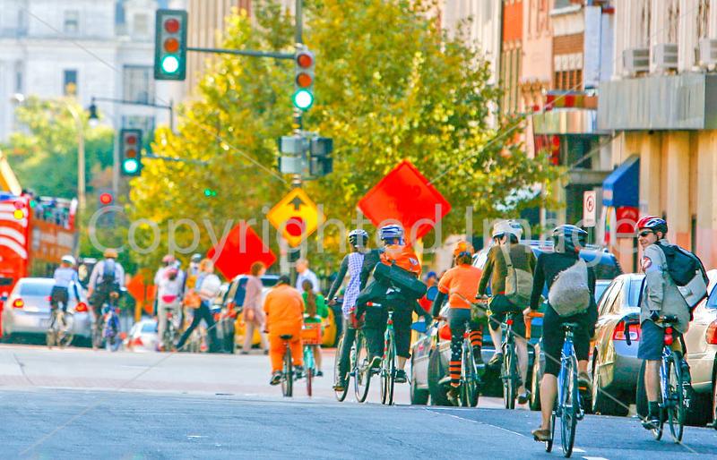 Cyclists near Ford's Theatre in Washington, DC - 72 dpi -1421-2