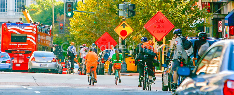 Cyclists near Ford's Theatre in Washington, DC - 72 dpi -1422