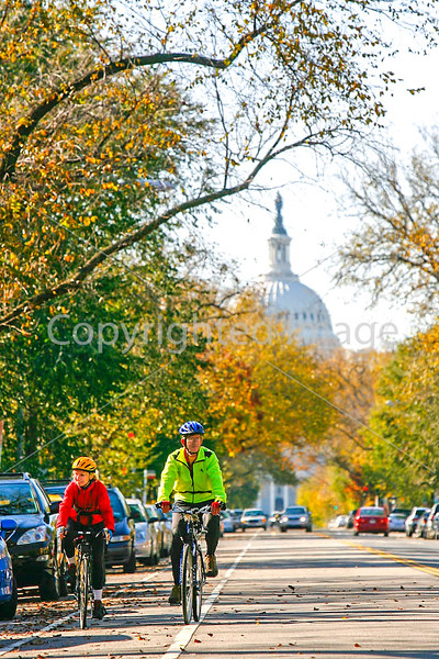Cyclists in Washington, DC, near the Capitol - 72 dpi -1365