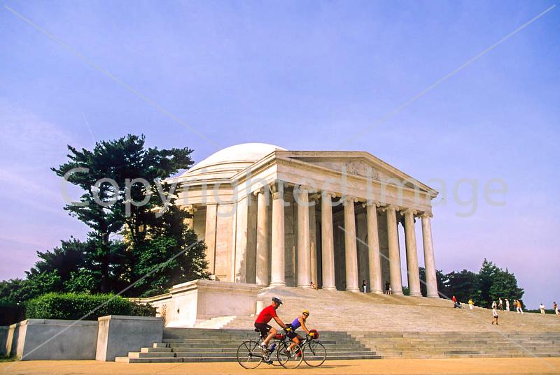 Bikers at Jefferson Memorial on Tidal Basin - 72 dpi-28