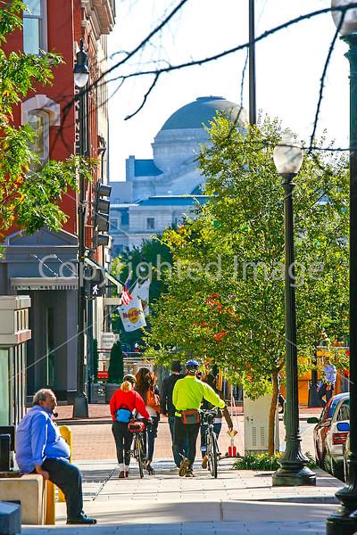 Cyclists near Ford's Theatre in Washington, DC - 72 dpi -1426