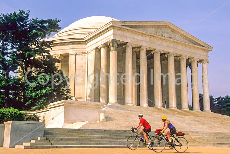 Bikers at Jefferson Memorial on Tidal Basin - 72 dpi-9