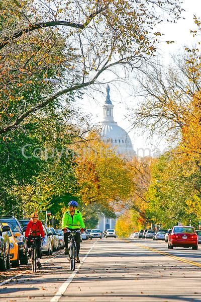Cyclists in Washington, DC, near the Capitol - 72 dpi -1363
