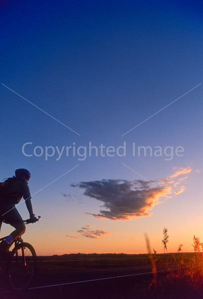Cyclist at Badlands National Park in South Dakota - 10 - 72 ppi
