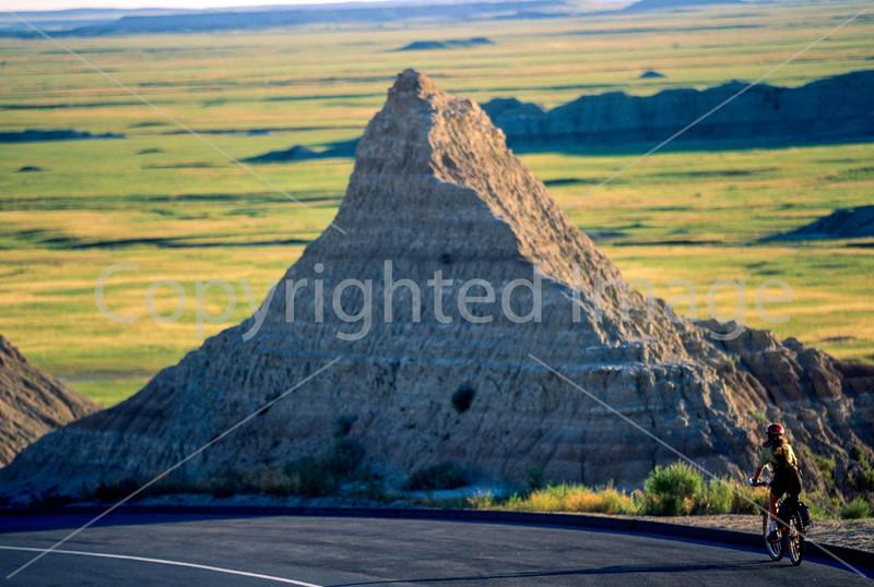 Cyclist at Badlands National Park in South Dakota - 7 - 72 ppi