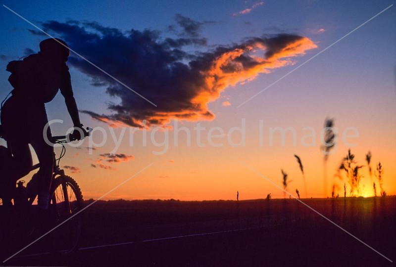 Cyclist at Badlands National Park in South Dakota - 9 - 72 ppi