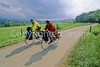 B tn cadescove 49 - ORps - 72 dpi - Touring cyclists in Cades Cove in Great Smoky Mountains National Park on the Tennessee-North Carolina border