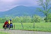 B tn cadescove 35 - ORps - 72 dpi - Touring cyclists in Cades Cove in Great Smoky Mountains National Park on the Tennessee-North Carolina border