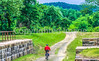 Cyclist on C&O Canal Towpath at Town Creek Aqueduct near WV-MD border - 6-2 - 72 ppi-3