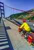 Touring cyclist on Golden Gate Bridge, California - 3-Edit - 72 ppi