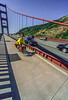 Touring cyclist on Golden Gate Bridge, California - 11-Edit - 72 ppi