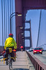 Touring cyclist on Golden Gate Bridge, California - 10-Edit - 72 ppi