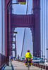 Touring cyclist on Golden Gate Bridge, California - 9-Edit - 72 ppi