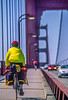 Touring cyclist on Golden Gate Bridge, California - 12-Edit - 72 ppi