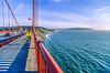 Biker commuting across Golden Gate Bridge in California - 4-Edit - 72 ppi_