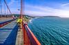 Biker commuting across Golden Gate Bridge in California - 6-Recovered-Edit - 72 ppi