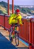Biker commuting across Golden Gate Bridge in California - 9-Edit - 72 ppi