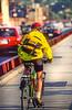Biker commuting across Golden Gate Bridge in California - 12-Edit - 72 ppi