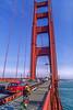 Biker commuting across Golden Gate Bridge in California - 8-Edit - 72 ppi