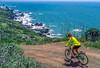 Mountain biker above Slide Ranch in Golden Gate National Recreation Area in California - 6-Edit - 72 ppi
