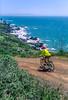 Mountain biker above Slide Ranch in Golden Gate National Recreation Area in California - 4-Edit - 72 ppi