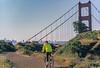 Mountain biker above Slide Ranch in Golden Gate National Recreation Area in California - bridge in view - 1-Edit - 72 ppi