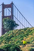 Mountain biker above Slide Ranch in Golden Gate National Recreation Area in California - bridge in view - 2-Edit - 72 ppi