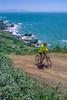 Mountain biker above Slide Ranch in Golden Gate National Recreation Area in California - 7-Edit - 72 ppi