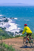 Mountain biker above Slide Ranch in Golden Gate National Recreation Area in California - 2-Edit - 72 ppi