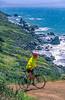 Mountain biker above Slide Ranch in Golden Gate National Recreation Area in California - 5-Edit - 72 ppi