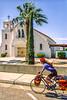 Touring cyclist in Twentynine Palms, CA, near Joshua Tree National Park - 1-2 - 72 ppi
