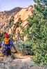 Mountain biker at Joshua Tree National Park in California - 19-2 - 72 ppi