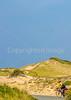 Biker near Race Point Beach in Cape Cod Nat'l Seashore, MA - C3-0152c - 72 ppi - crop