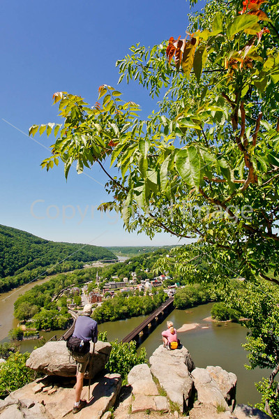 Hikers on Maryland Heights in Harpers Ferry NHP in Maryland & West Virginia-D3C2--0198 - 72 ppi
