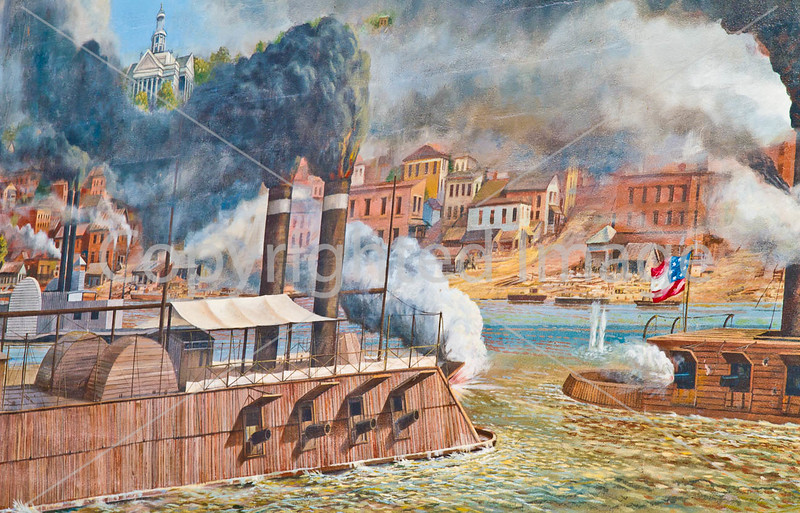 Vicksburg, Mississippi - flood wall mural by Robert Dafford - D3-C3-0028 - 72 ppi