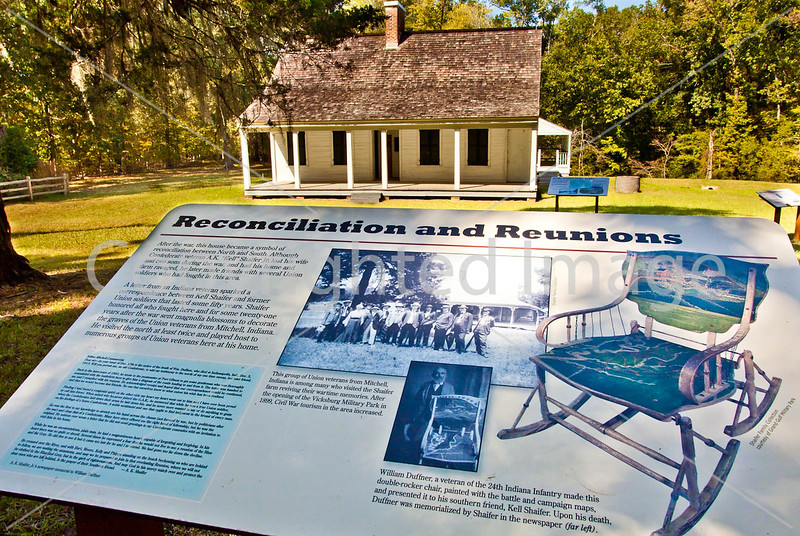 Shaifer House & plaques on Grant's path to Port Gibson, MS - D6 - C2- - 72 ppi