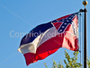 Mississippi state flag in Vicksburg, MS - D1-C3-0036 - 72 ppi