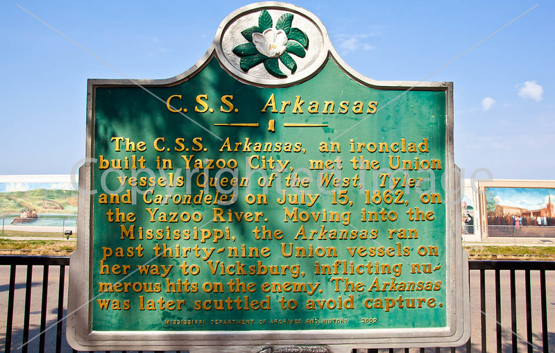 Historical plaque in downtown Vicksburg, MS - D3-C2- - 72 ppi