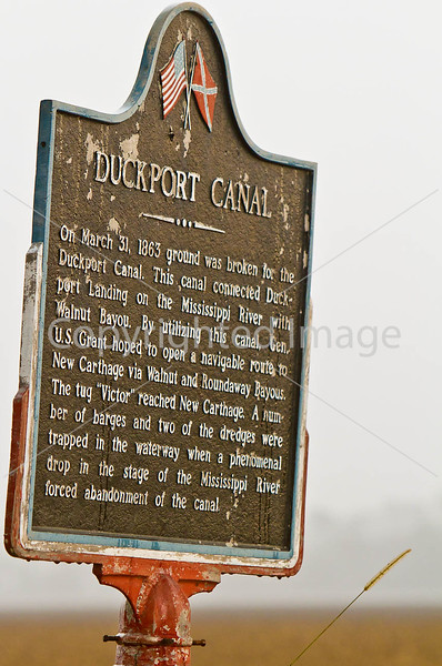Duckport Canal sign in Louisiana on Grant's route - D3-C1-0012 - 72 ppi