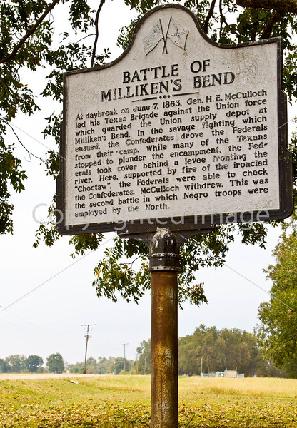 Milliken's Bend sign in Louisiana, near Vicksburg, MS - D3-C3-0050 - 72 ppi