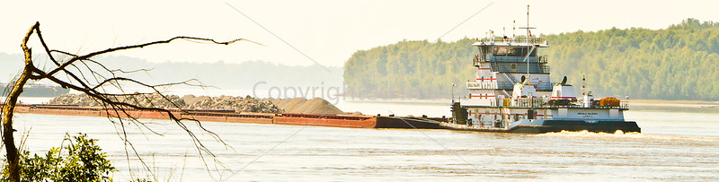 Barge traffic on the Mississippi near Grand Gulf Military Park, MS - D5 -C1-0063 - #2 - 72 ppi