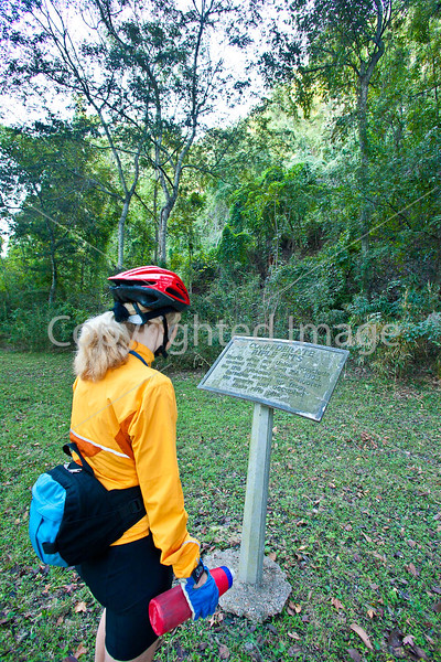 Cyclist at Fort Cobun at Grand Gulf Military Park, Mississippi - D1-C2 -0120 - 72 ppi