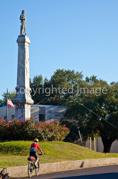Cyclist at Confederate monument in Port Gibson, MS - D1-C3-0305 - 72 ppi