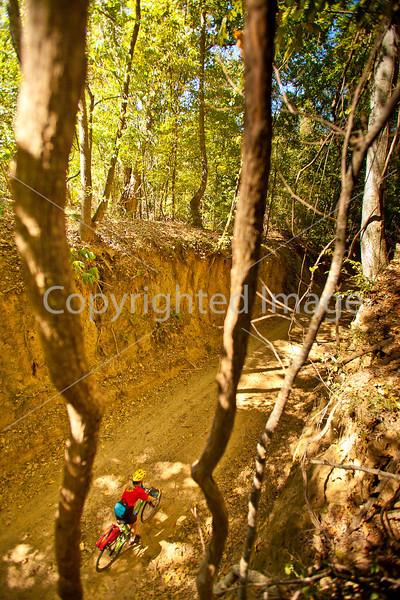 Biker on Shaifer Road near Port Gibson, MS - D1-C2 -0345 - 72 ppi